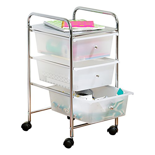 Honey-Can-Do 3-Drawer Plastic Storage Cart on Wheels Now $29.99 (Was $63.99)