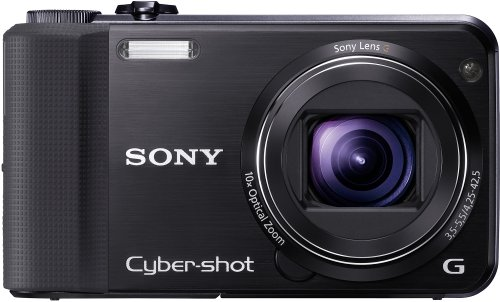 Sony DSC-HX7VB Digitalkamera (16 Megapixel, 10-fach opt. Zoom, Full HD Videoaufnahme, GPS, 7,6 cm (3 Zoll) Display, bildstabilisiert) schwarz