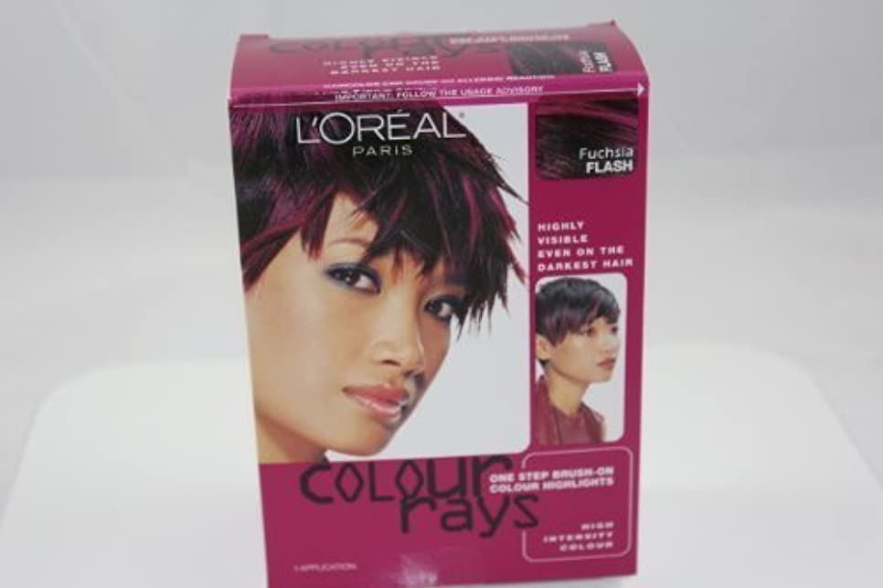 体細胞撤回する中毒L'Oreal Paris Colour Rays Hair Color, Fuschia Flash by L'Oreal Paris Hair Color [並行輸入品]
