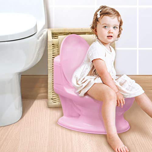 Nuby My Real Potty Training Toilet with Life-Like Flush Button & Sound for Toddlers & Kids,