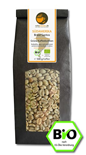Bio Rohkaffee Arabica Brasil Santos 500g