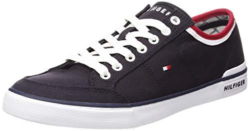 Tommy Hilfiger Core Corporate Textile Sneaker, Zapatillas Hombre, Azul (Midnight 403), 41 EU