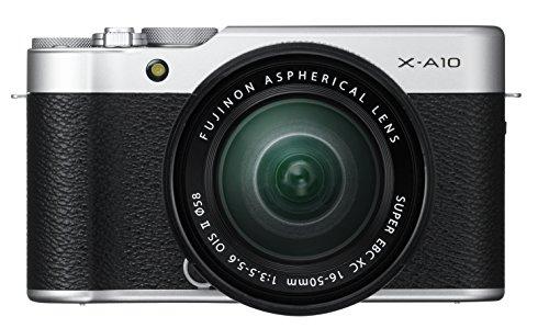 "Fujifilm X-A10 - Cámara Evil de 16.3 MP (Pantalla táctil de 3"", Obturador electrónico, Video Full HD, WiFi) Plata - Kit Cuerpo con Objetivo XC 16-50 mm"