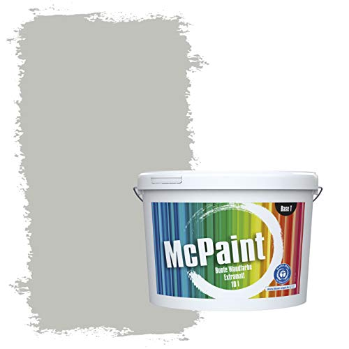 McPaint Bunte Wandfarbe extramatt für Innen Mondgrau - 2,5 Liter - Weitere Graue Farbtöne Erhältlich - Weitere Größen Verfügbar