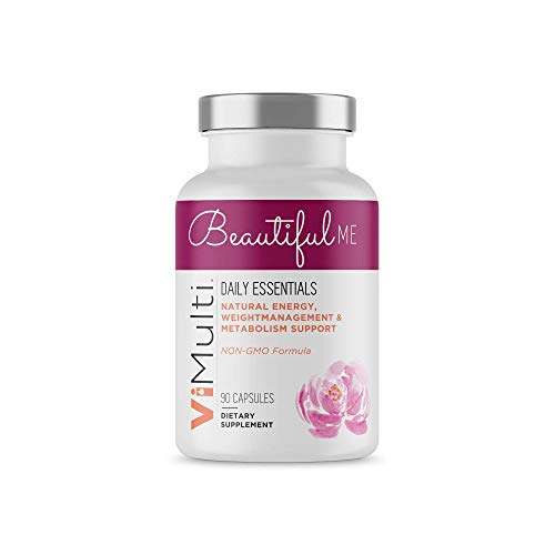 Beautiful Me Best Multi Vitamins for Women. 30 Capsules of Women's Vitamins with Spirulina, Wheat Grass and Green Tea. Loaded with Vitamins and Minerals to Keep You Energized and Immune Safe