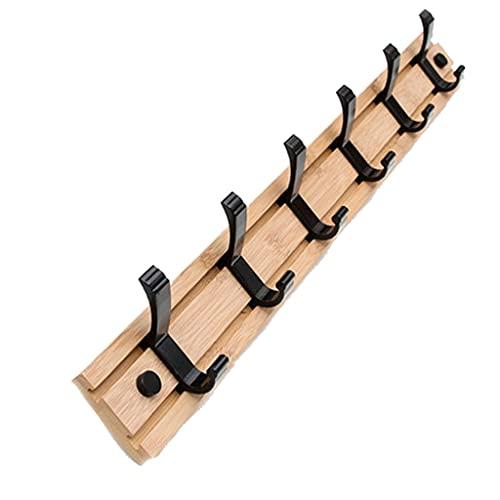 JKXWX Perchero de Pared Abrigo montado en la Pared Historial de Abrigo Deslizante, Cuello de Ropa Se Pueden Usar Las Llaves de Equipaje en la habitación del Dormitorio (Gancho Negro) Perchero