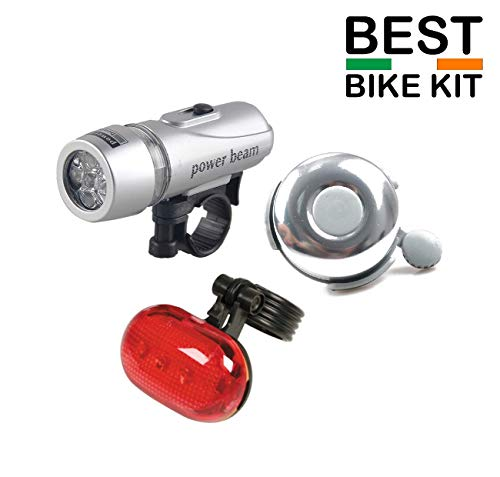 Ducomi® Power Beam–Juego de faros delantero y trasero para bicicleta, de LED–Luz con alimentación a pilas para bicicleta