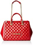 Love Moschino Quilted Nappa PU, Bandolera para Mujer, Rojo (Rosso), 15x10x15 centimeters (W x H x L)