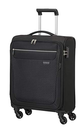 American Tourister Sunny South Luggage- Carry-On Luggage, Spinner S (55 cm - 36 L), Schwarz (Black)