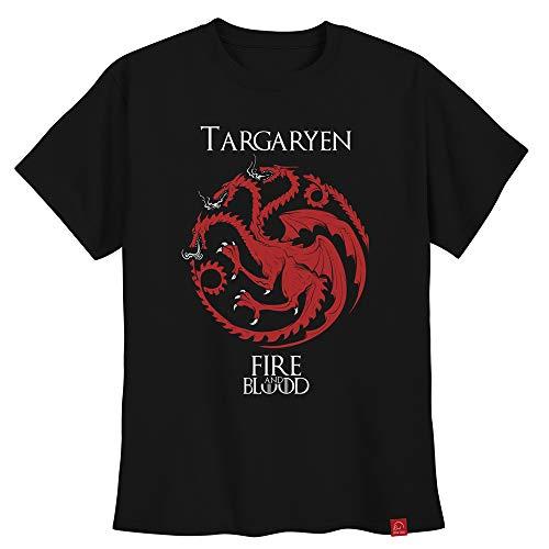 Camiseta Targaryen Game Of Thrones Camisa Fire And Blood XG