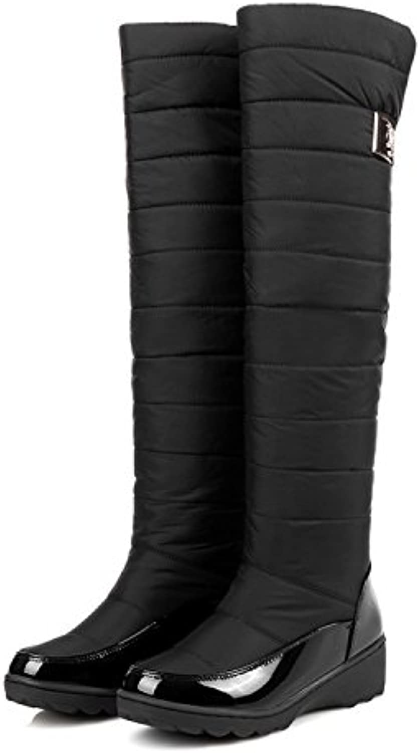 Top Shishang Winter Warm Lined mid-Waist Snow Boots Down Filled Martin Boots Female