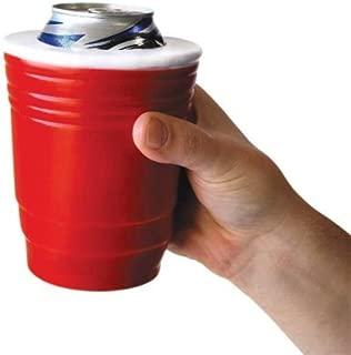 BigMouth Inc Red Cup Kooler, Foam Cooler Holds Can or Bottle, Keeps Drink Cold