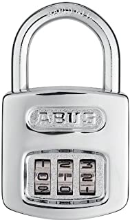 Abus 160/40 B 160 All Weather Chrome Combination Padlock, 3 Dial