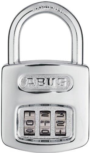 Abus 160/40 C 160 全天候型リセット可能クロムコンビネーション南京錠、3ダイヤル