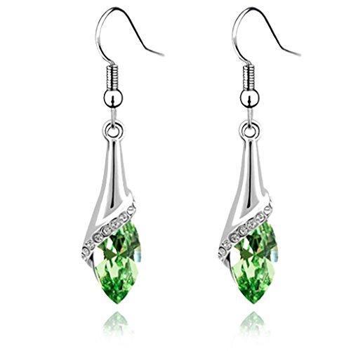 Pendiente de las mujeres de cristal gota de agua gancho de largo cuelgan auriculares earbob accesorios para las mujeres Bobury
