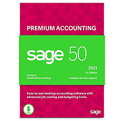 Sage 50 Premium Accounting 2021 U.S. 3-User Small Business Accounting Software [PC Download]