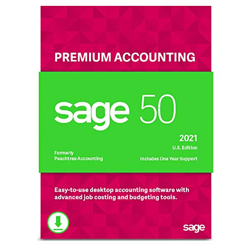 Sage 50 Premium Accounting 2021 U.S. 5-User Small Business Accounting Software [PC Download]