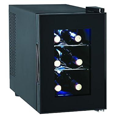 6-Bottle Wine Cooler, Glass Door