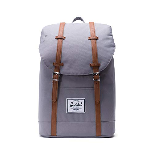 Herschel Retreat Classics Rucksack Unisex, Grey/Tan Synthetic Leather Backpack, Einheitsgröße