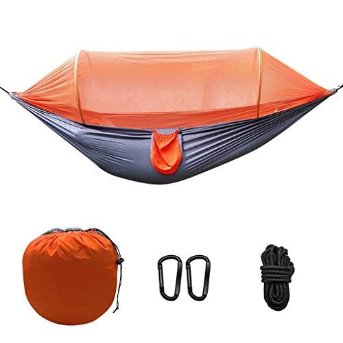 Camping Hamac avec Moustiquaire, Suspendu Sommeil Swing Léger Hamac Voyage Extérieur Parachute Tissu Lit Randonnée Cour