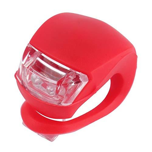 Courage Ouyang impermeable LED cabeza delantera rueda trasera bicicleta bicicleta ciclismo silicona cabeza delantera rueda trasera seguridad lámpara