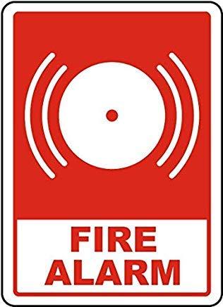 Feueralarm-Schild 3 Schild, Metall Wanring Schilder Private Property Gefahr, Sicherheits-Schild, Torschild, 20,3 x 30,5 cm