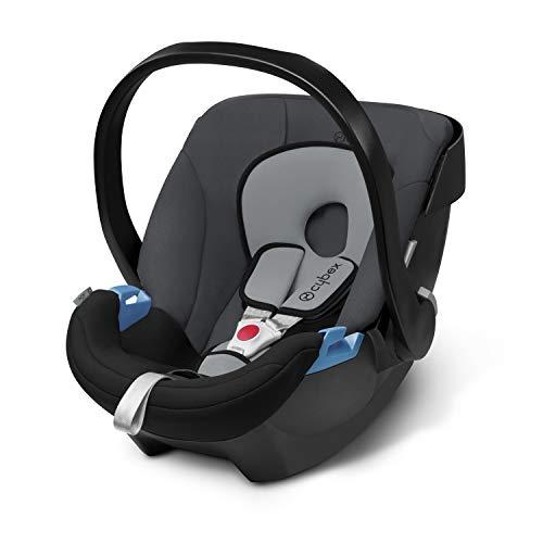 Cybex Silver - Portabebés Aton, en contra de la marcha, incluye reductor para recién nacido, desde el nacimiento hasta aprox. 18 meses, max. 13 kg, cobblestone