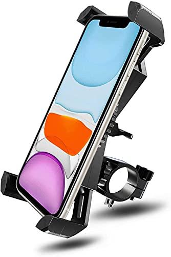 Soporte Movil Bici, 360° Rotación Soporte Movil Moto Bicicleta, Anti Vibración Porta Telefono Motocicleta Compatible con iPhone 12 Pro Max/12 Mini/11 Pro MAX/XS/XR y Otro 4.5-7.0' Móvil