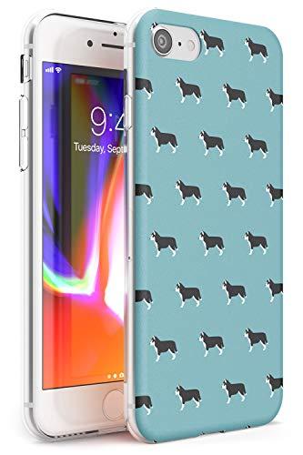Reticolo Husky Dog Slim Cover per iPhone 7 Plus TPU Protettivo Phone Leggero con Animale Domestico Cucciolo Razza Animale Design