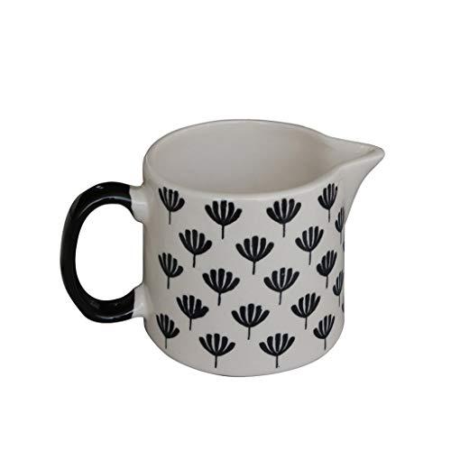Jarra de leche pequeña Set de 2 unidades con la jarra crema, leche en polvo de cerámica, Jarra de leche, vertedor, Lanzador Jarro, regalo for los amantes del té de café jarra de leche porcelana
