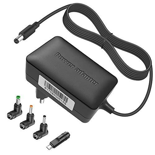 BERLS 5V 2.5A/3A Alimentatore Caricabatterie universale con 4 connettori per tablet, altoparlante Bluetooth, Raspberry Pi, USB-HUB, sistema telefonico domestico, controller DJ 5,5 x 2,1 mm