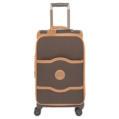 DELSEY Paris Chatelet Softside Luggage with Spinner Wheels, Chocolate