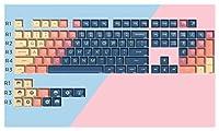 108キーメカニカルキーボード 130/104キーボールキャップキーキャップパーソナライズされたグラデーションカラーELFキーキャップ用機械式キーボード (Color : 104 Keys)