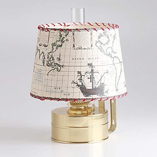 (DIL8878-PS-RD)(ギャレ-ランプ-14古地図ラウンドセ-ド付) 真鍮製 船舶燈オイルランプ ランタン オランダ製 DEN HAAN ROTTERDAM デンハーロッテルダムDHR ランタン マリンライト