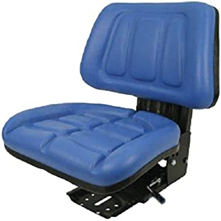 Blue Fullback Tractor Suspension Seat fits Most Ford and New Holland 600, 601, 800, 801 Plus Many More