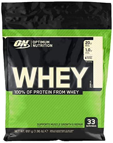 Optimum Nutrition ON Whey Proteina Isolate, Proteinas Whey en Polvo, Proteina de Suero para Masa Muscular y Musculacion, Bajo en Azúcar, Vainilla, 33 Porciones, 891g