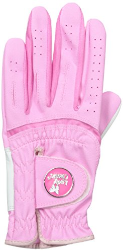 Lady Classic Women s Soft Flex Gloves with Magnetic Ball Marker, Left Hand, Pink, Medium