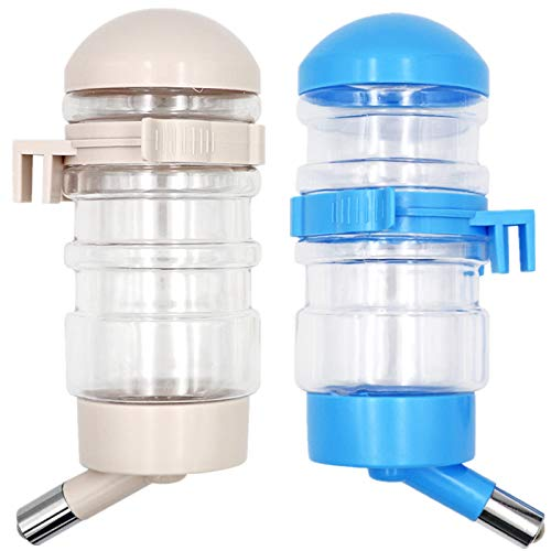M.Z.A - 2 botellas de agua para perro, gato, hámsteres, botella de agua colgante automático, mascotas, dispensador de agua para conejillos de Indias, ratas, enanos, jerbo, chinchilla