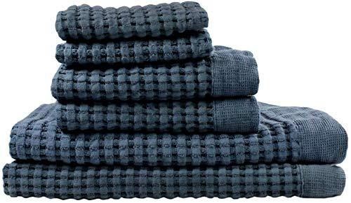 Luxury waffle weave cotton towels