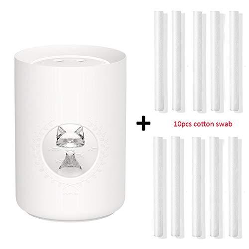 Ultraschall Luftbefeuchter 800 Ml Doppeldüse Nette Katze Tragbare Usb Aroma Diffusor Led Licht Luftnebel Luftbefeuchter Weiß Und 10 Filter