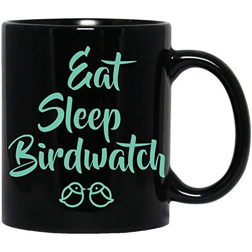 Vogels kijken-Eet Slaap Vogel Horloge- Liefde Vogelen-Vogelhuisje Mok