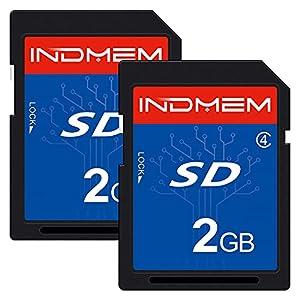 2 Pack SD Card 2GB Class 4 Flash Memory Card 2G SLC Standard Secure Digital Cards