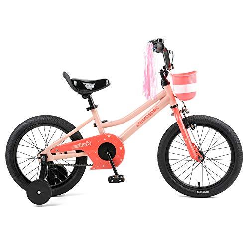 "Retrospec Koda Kids Bike Boys and Girls Bicycle with Training Wheels, 16"", Starry Pink"