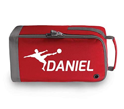 Personalisierbare Fußballschuh-Tasche für Kinder, Red / White Print, 35 x 19 x 12cm
