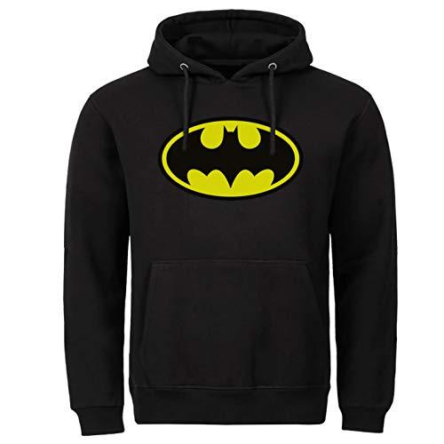 Sudadera con capucha de Batman para Halloween, estilo retro, superman, Hollywood, color negro Negro XXL