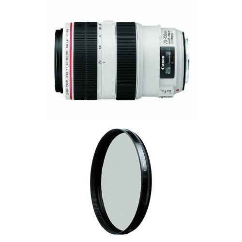 Canon EF 70-300mm f/4-5.6L IS USM UD Telephoto Zoom Lens for Canon EOS SLR Cameras w/ B+W 67mm HTC Kaesemann Circular Polarizer