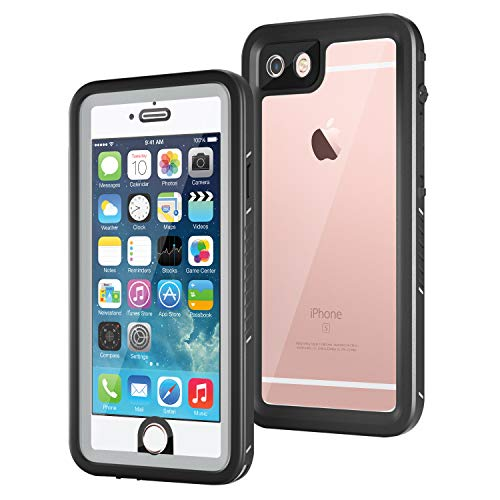 meritcase iPhone 6/iPhone 6s Waterproof Case, IP68 4.7 inch iPhone 6/6s Full Body Shockproof Snowproof Dirtproof Sandproof Case for Swimming Diving Surfing Snorkeling (4.7 inch, Black)