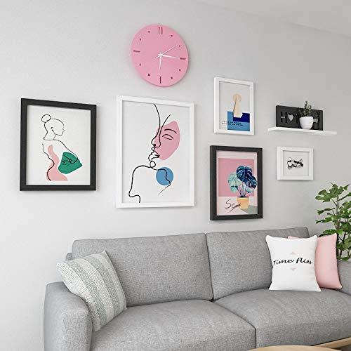 Anyi 7 Pulgadas de Madera Maciza Simple Moderno Moderno Sala de Estar Comedor sofá decoración Fondo Pared Pinturas de Pared,Natural