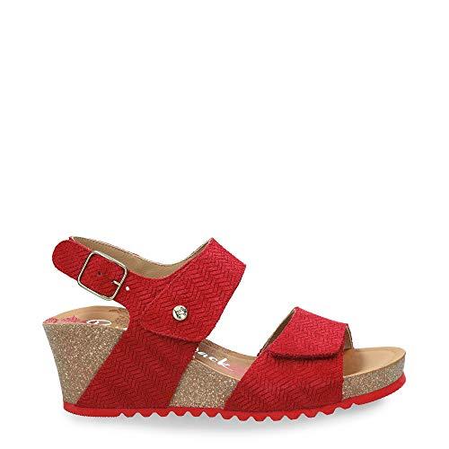 Sandalias de Mujer PANAMA JACK Vanessa Menorca B1 Velour Rojo