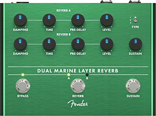 Fender® Dual Marine Layer Reverb Guitar Effect Pedal